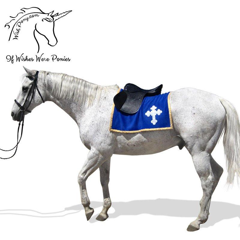 Medieval Heraldry Emblem Saddle Blanket For Mini Pony Horse