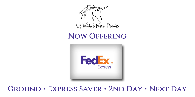 now offering fedex shipping for urgent and non urgent