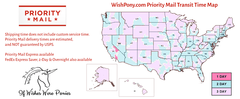 Wishpony Fast Priority Mail Shipping