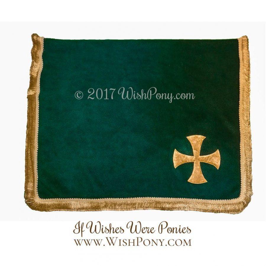 Hunger Green Templar Cross Saddle Blanket