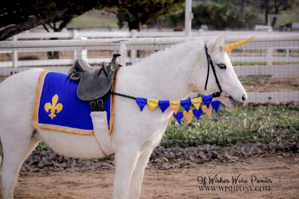 Fleur de Lis Saddle Blanket