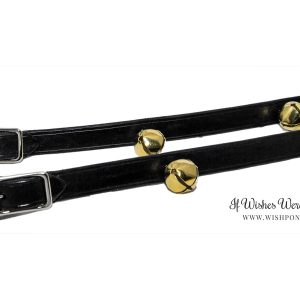 Black Leather Jingle Bell Reins