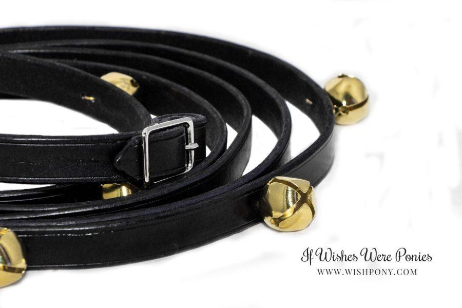 Black Leather Jingle Bell Reins